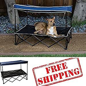 Amazon.com: Outdoor Dog Bed With Canopy,Pet Shade,Dog