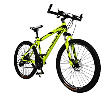 MASLEID 26 pulgadas bicicleta de montaña bicicleta de 21 velocidades , yellow