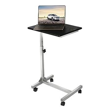 Aingoo Laptoptisch Auf Rollen Computertisch PC Tisch Notebooktisch  Schreibtich Bett Frühstückstisch Bestelltisch Laptop Betttisch Bett Table