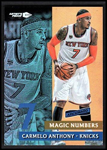 2016-17 Panini Aficionado Magic Numbers Artist's Proof #6 Carmelo Anthony NM-MT