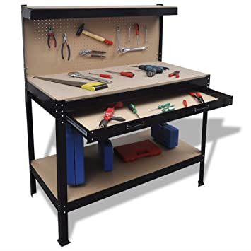 SKB Family Workbench With Pegboard And Drawer New Garage Storage Table
