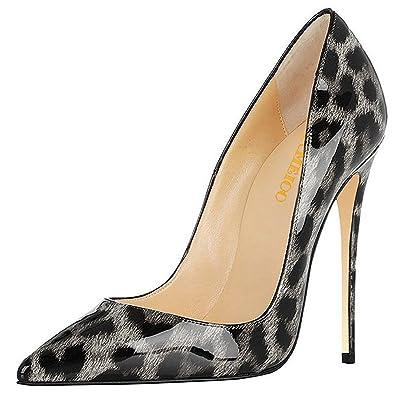 de76b8a8af8 Kmeioo Leopard Heels