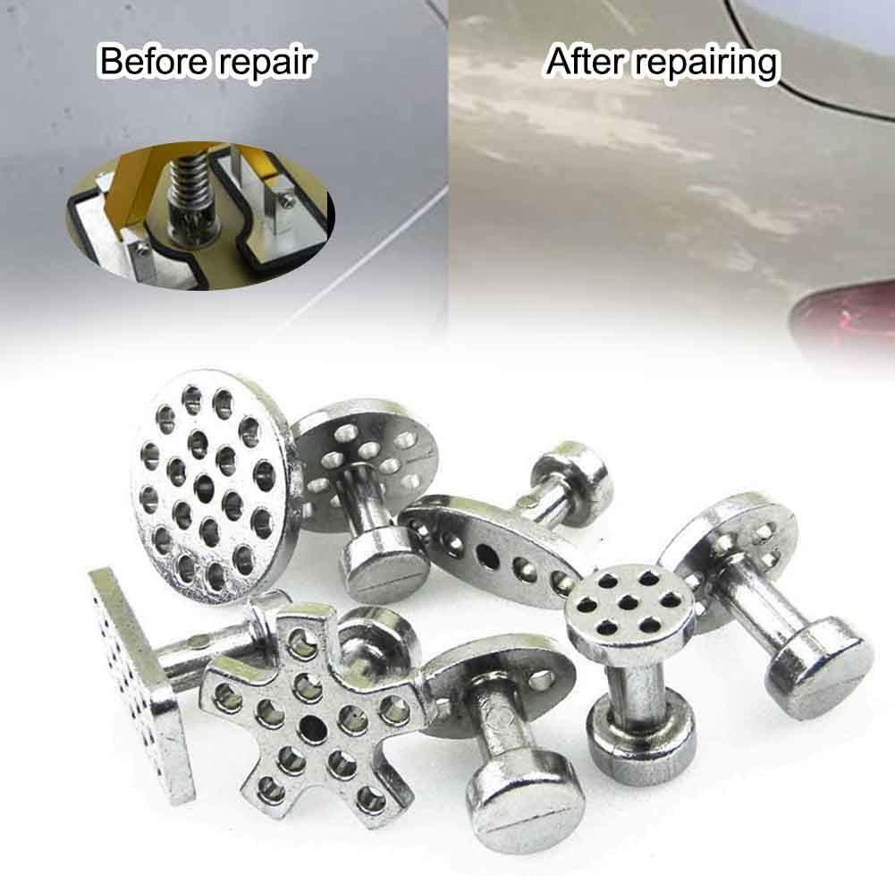 de extractor de reparación de abolladuras sin pintura -de herramientas de reparación de carrocería, 8 piezas de lengüetas de extracción de abolladuras para removedor de daños por granizo de carrocería