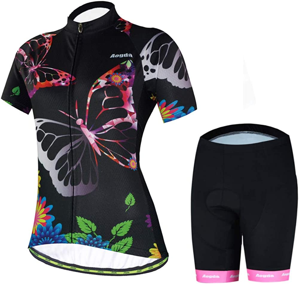 Cycling Jersey Women Aogda Bike Shirts Bicycle Jacket Team Biking Tights Clothing