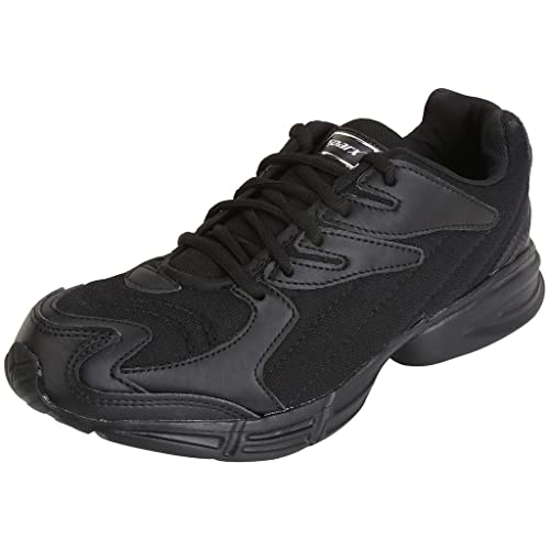 Black Synthetic Sports Shoes 7UK