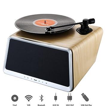 Amazon.com: hym semillas Smart Turntable estación de audio ...