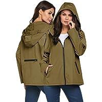 Women's Rain Jacket Waterproof Light Weight Windbreaker Raincoats Outdoor Active