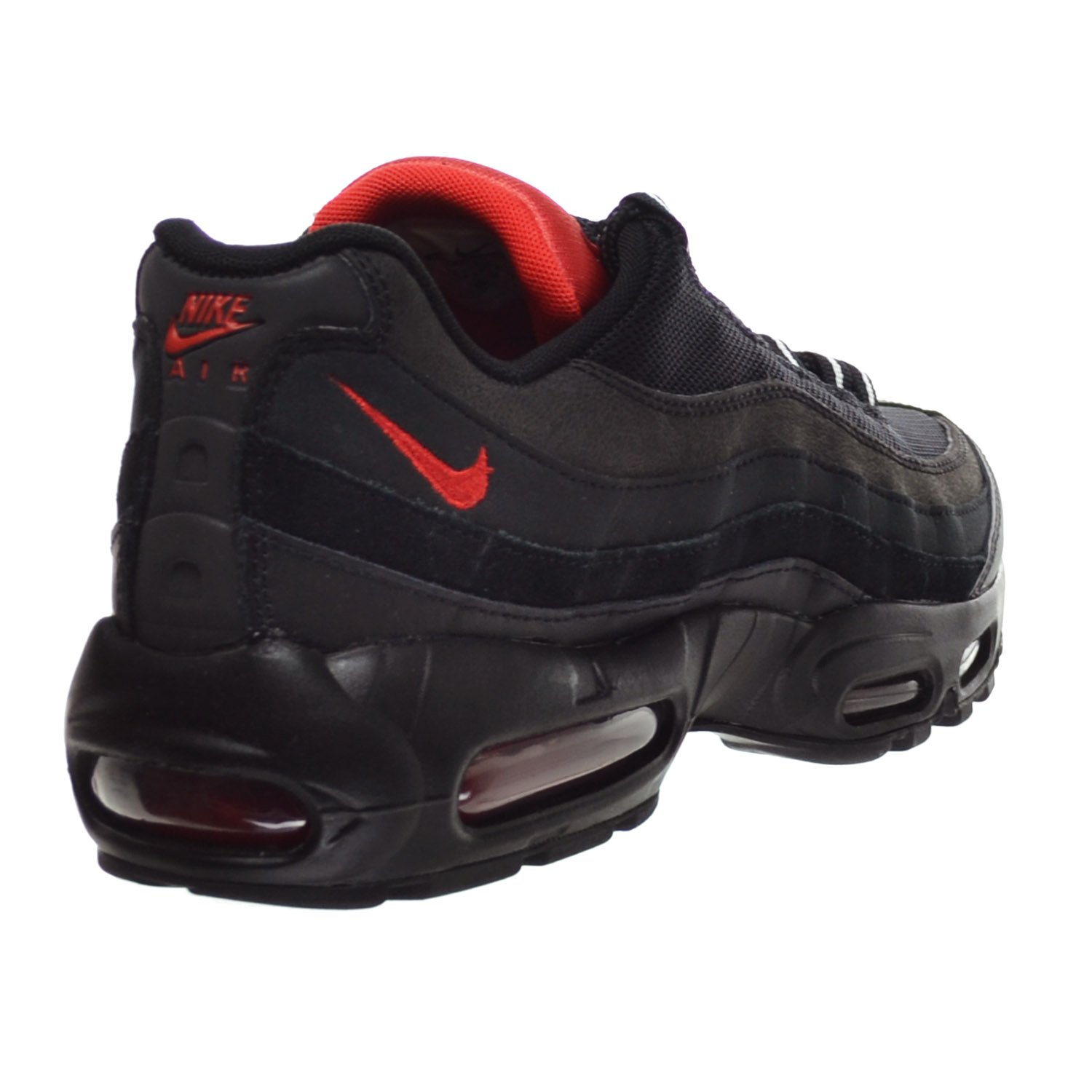 brand new 63093 ca496 Amazon.com   Nike Air Max 95 Essential Men s Shoes Black Challenge Red White  749766-016 (9.5 D(M) US)   Fashion Sneakers