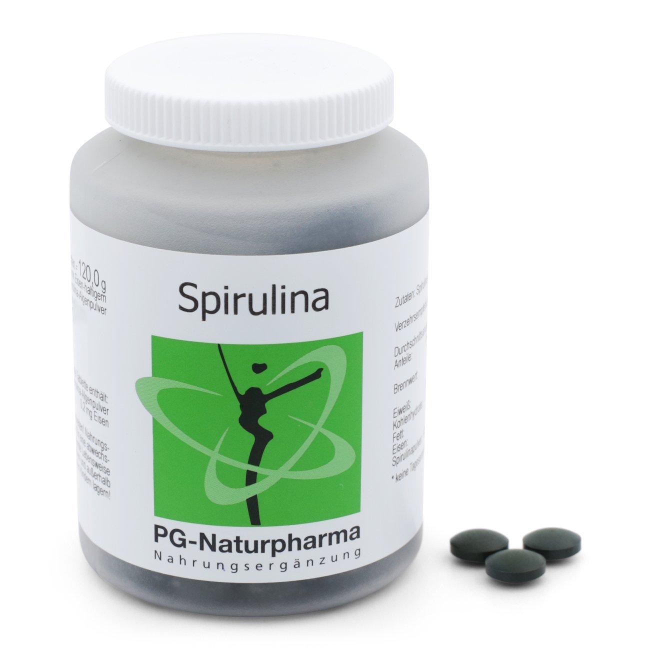 espirulina comprimidos - 300 espirulina compacta con 400 mg de polvo de algas espirulina - vitaminas, minerales y oligoelementos - fabricados en Alemania: ...