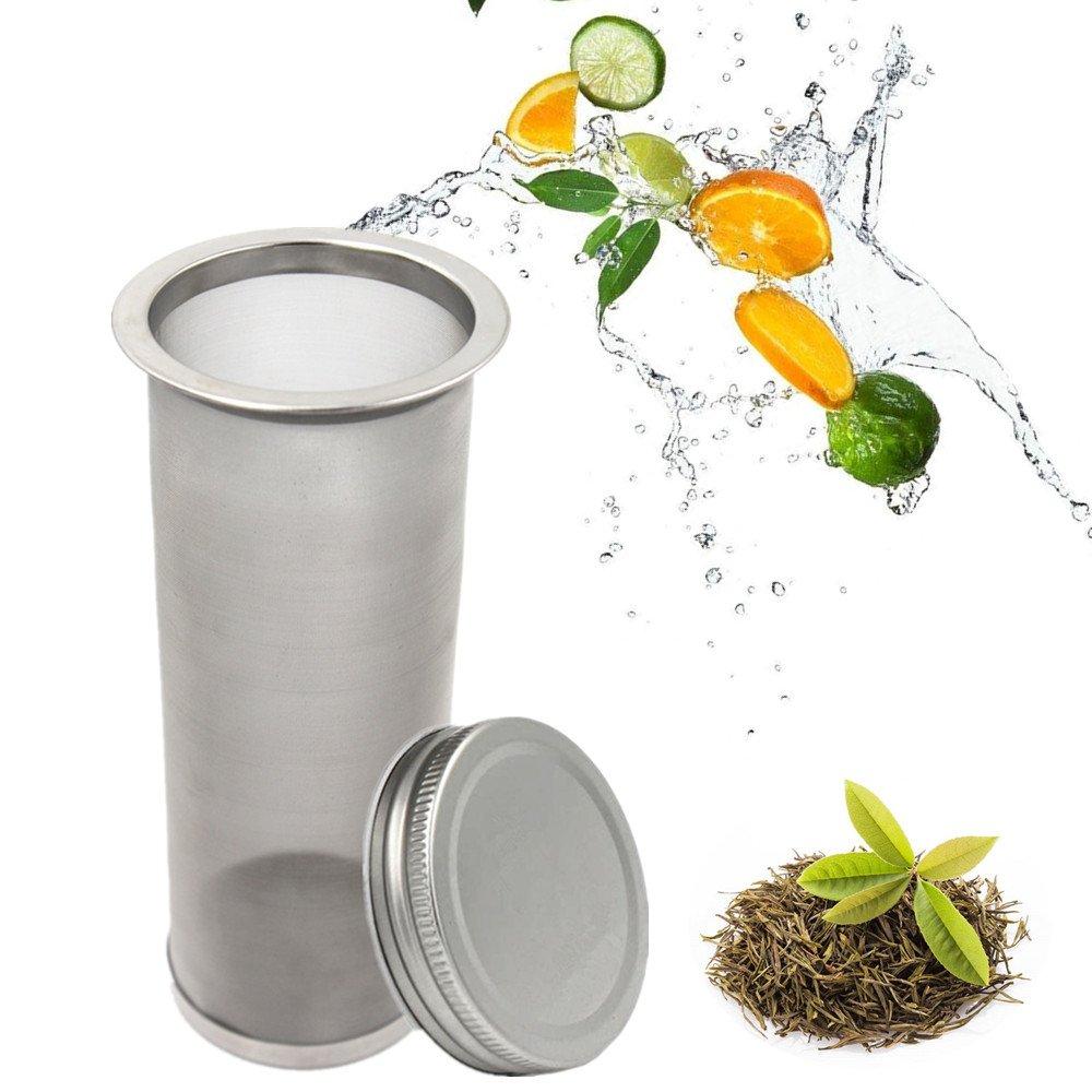 Mason Jar Cold Brew Coffee Maker & Iced Tea Maker - Quart (32oz) - Durable Fine Mesh Stainless Steel Coffee Maker Coffee Filter for Regular Mouth Mason Jar