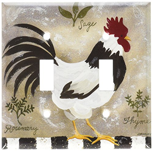 Art Plates - Jennifers Rooster Switch Plate - Double Toggle