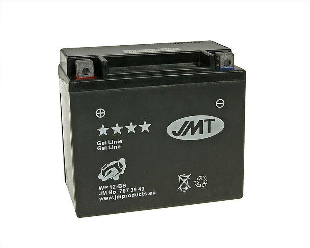 2009-2012 Batterie JMT GEL inkl.7.50 EUR Batteriepfand Adly//Herchee Hurricane 500 S Bj YTX12-BS 12 Volt