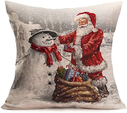 Fundas Cojines de Navidad, Patrón de Papá Noel Funda de