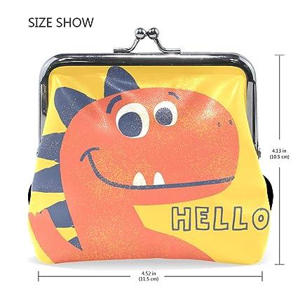 Amazon.com: Cartera pequeña con diseño de dinosaurio y texto ...