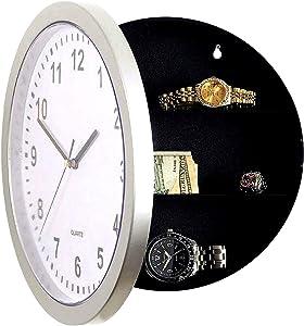 DL Wall Clock & Hidden Safe Box in One - 10inch Wall Safe Clock - Concealment Furniture with Hidden Compartments - Wall Mount Clock w/ Hidden Storage Shelf - Diversion Safe - Stash Box Clock (1)