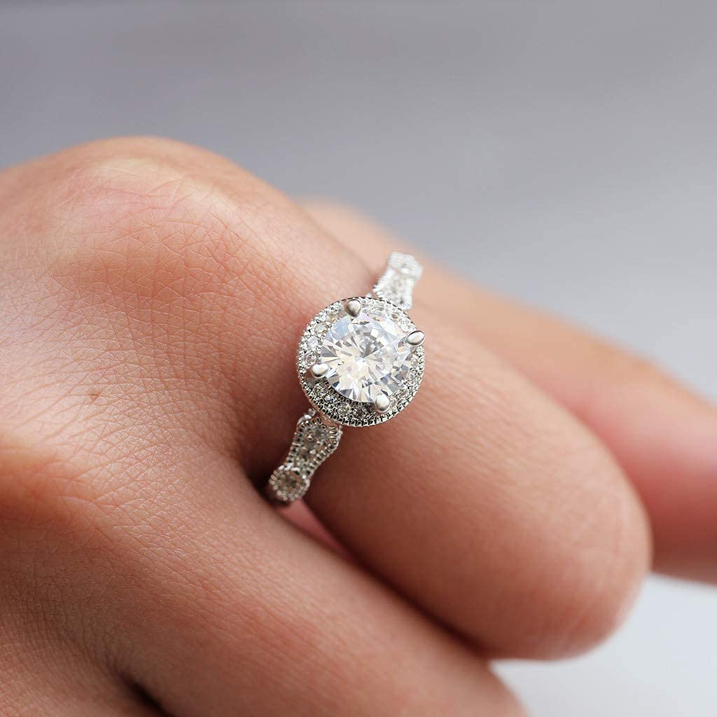 ✔ Hypothesis/_X ☎ Womens Rings Gold Timeless Elegance Ring Rose Gold Moon Stars Diamonds Wedding Engagement Rings