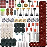 8milelake Rotary Tool Accessory Set 350pc Fits Dremel Grinding, Sanding, Polishing