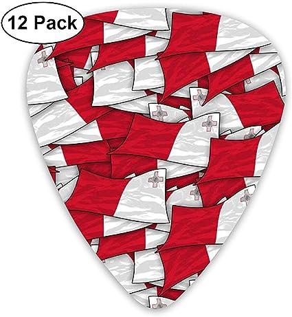 Malta Flag Wave Collage 12 Pack Púas de guitarra, guitarras ...