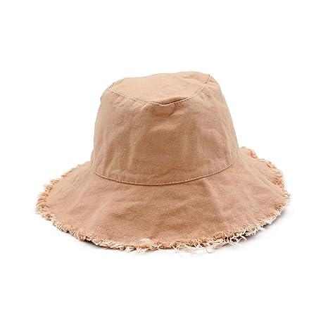 Gaojuan Unisex Reversible Cotton Summer Bucket Bush Hats Casual Wild Hem  Cowboy Hat Collapsible Fisherman 913d9e226147