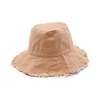 d309ba080b4e3 Gaojuan Unisex Reversible Cotton Summer Bucket Bush Hats Casual Wild Hem Cowboy  Hat Folding Fisherman Hat Sun Protection Hat Sunscreen cap Bath Of Women ...