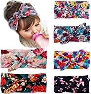 My Little Baby® Baby Girl Newest Turban Headband Head Wrap Knotted Hair Band 6 Pack