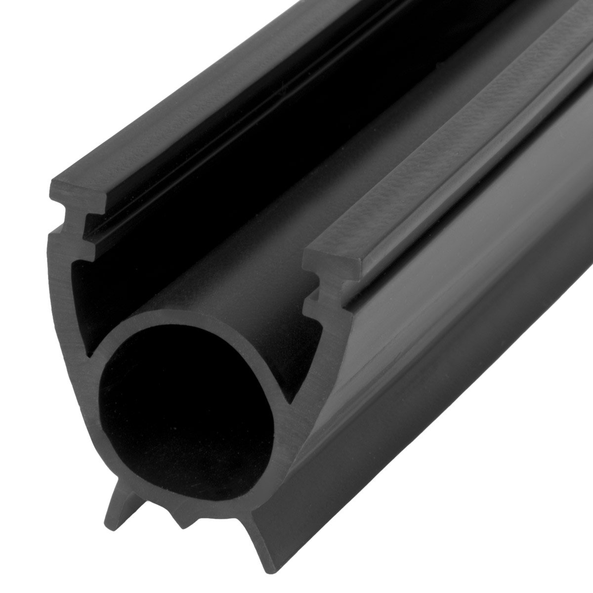 STEIGNER Garage Door Weather Seal SBD01 Garage Gate Seal Insulation, Black, 33x41 mm, 5 m