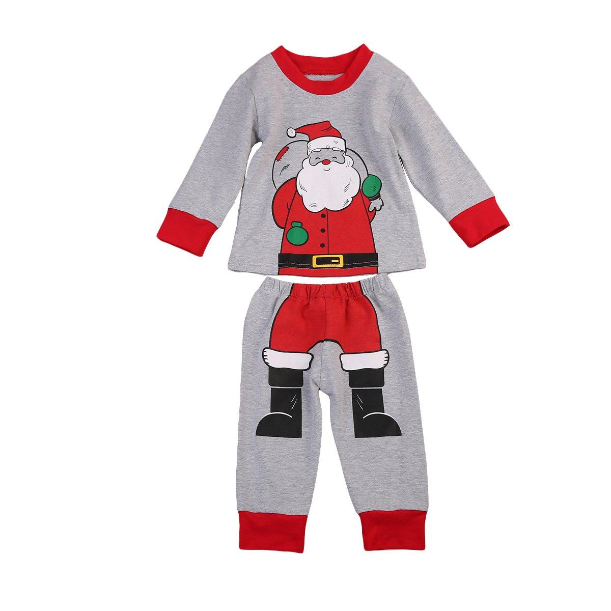 Niñito Bebé Niño Niña Traje de Navidad Papá Noel Camiseta de ...