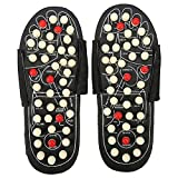 Foot Massager Magnetic Massage Shoes with 41 TAi CHI Accupressure Points Massaging for Relax Fatigue Stress Pain Muscle Relief(38-39-White Dot)