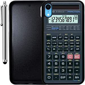 Custom Case Compatible with iPhone XR (Scientific Calculator) Edge-to-Edge Rubber Black Cover Ultra Slim | Lightweight | Includes Stylus Pen by Innosub
