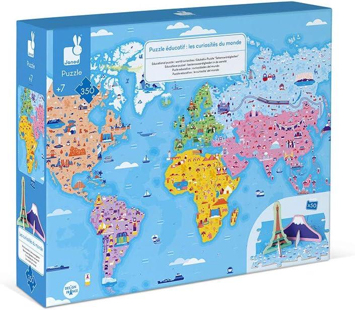 Janod Puzzle Educativo - CURIOSIDADES del Mundo - 350 Piezas: Amazon.es: Juguetes y juegos