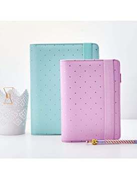 ZXSH Cuaderno Agenda A5 A6 Mint Rose Gold Notebook Notebook ...