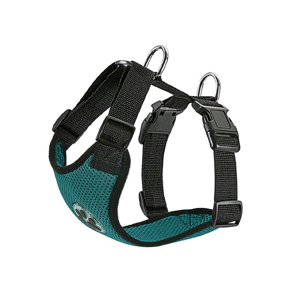 Green Medium Green Medium SlowTon Dog Harness, Pet Vest Harness for Dogs Safety in Car Adjustable Neck and Chest Strap Breathable Soft Fabric Multifunctional Vest with Quick Release for Travel Walking Daily Use