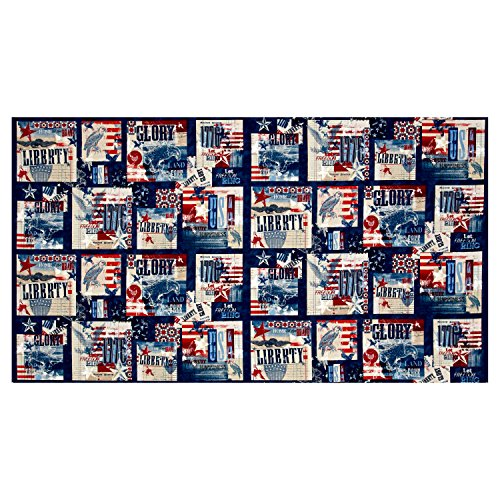 Wilmington Prints 0559925 Wilmington Land of Liberty Sampler Multi Fabric by The Yard ()
