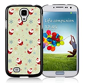 Individualization lovely Samsung S4 TPU Protective Skin Cover Cartoon Santa Claus Black Samsung Galaxy S4 i9500 Case 1