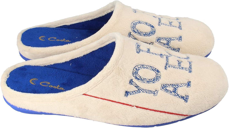 Yo fui a EGB Suapel Único, Zapatillas de Estar por casa con talón Abierto Unisex Adulto, Beige (Crudo 0028), 36 EU: Amazon.es: Zapatos y complementos
