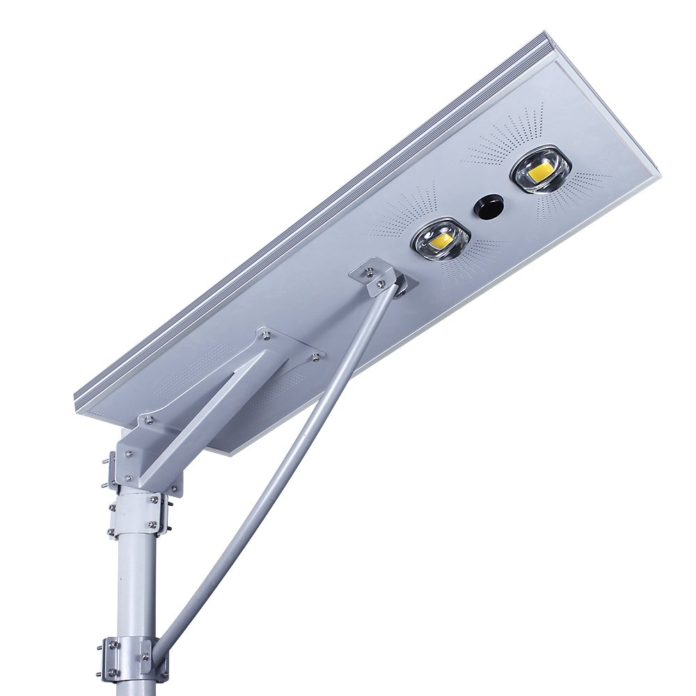 Solar Street Lights Outdoor Commercial Waterproff&Wireless Solar Powered with Lithium Ion Battery Included. Even in Rainy Days,Can Also Continue for 2-3 Days Lighting 70W