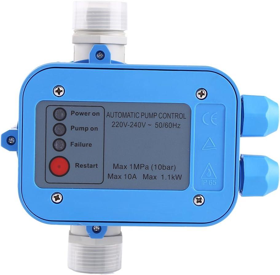 Controlador de Bomba de Agua, 10 Bar Controlador de Presión de Bomba de Agua Automático, Presostato, Regulador de Presión