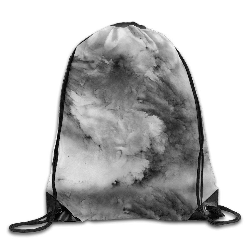 VIMUCIS White Black Marbling Drawstring Backpack Rucksack Shoulder Bags Training Gym Sack For Man And Women