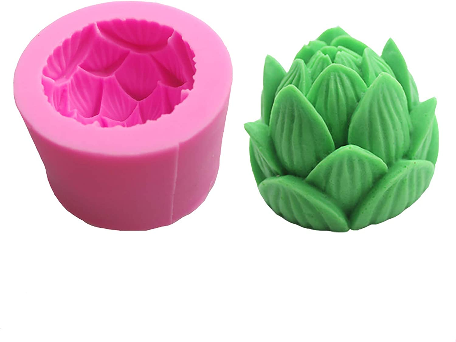 WTFWTF 3D lotus Silicone Mold,Food Grade Safe Silicone Mold, Used For Cake, Prepared Food, ChocolateFudgeResin CraftsScented Candles, Handmade Soap And Other DIY Creative Productions.
