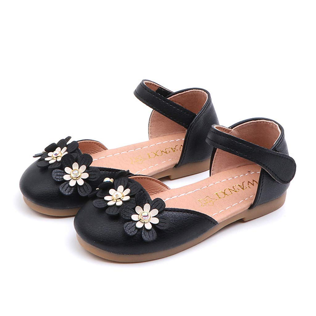 Seaintheson Baby Girls Shoes Toddler Infant Kids Flower Single Shoes Princess Leather Shoes Soft Non-Slip Sandals