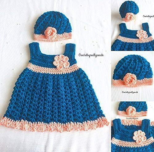 Amazon Com Baby Girl Dress And Beanie Set 3 6 Baby Outfit Spring