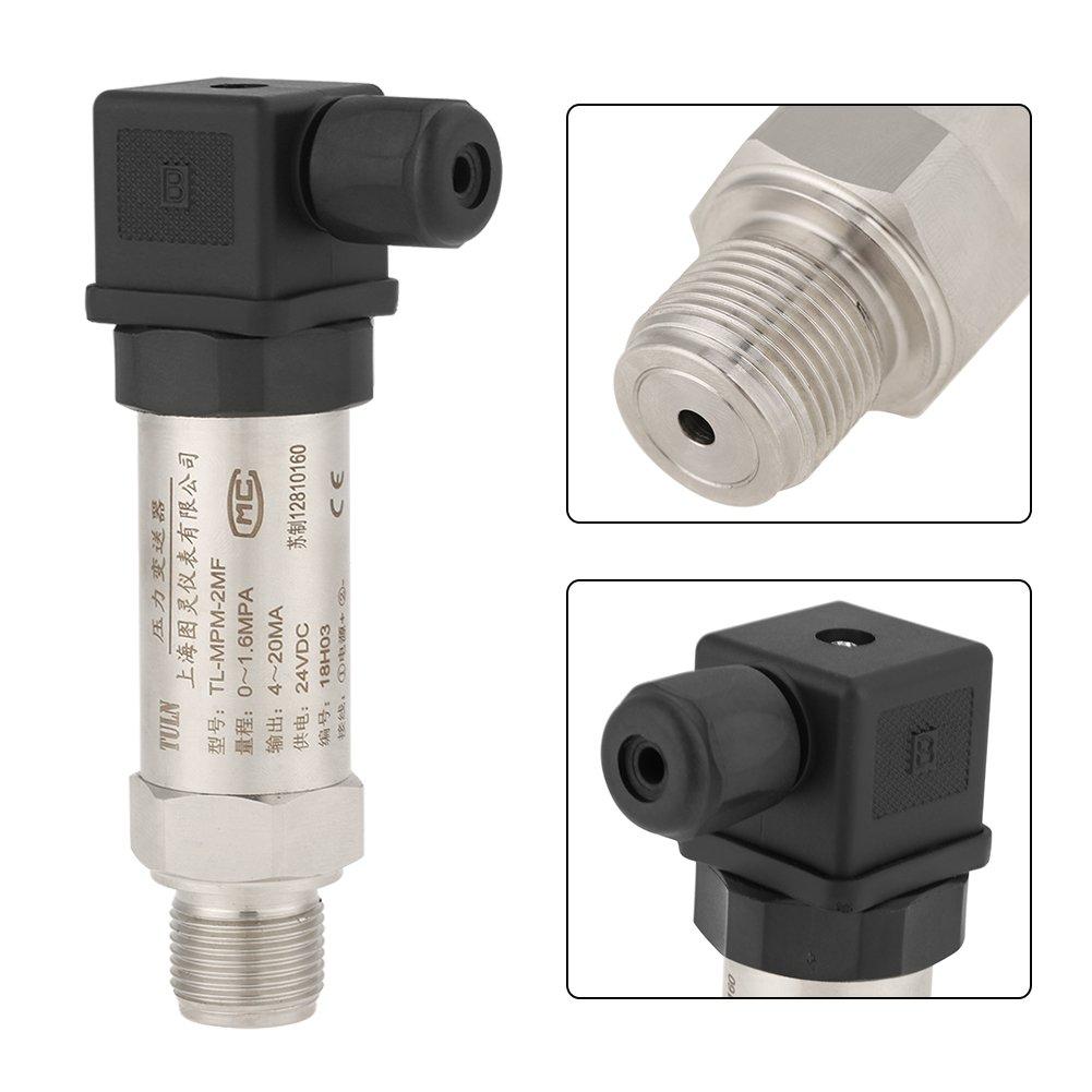 Druckmessumformersensor 24V DC 0-3bar Siliziumdruckmessumformer Wasser Gas /Öldruckmessumformer 4-20mA Ausgang