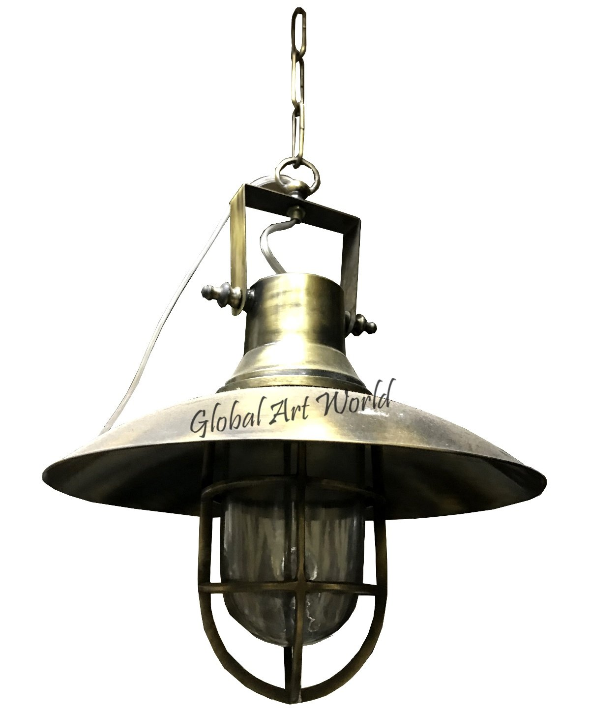 Global Art World Old Antique Warehouse Vintage Antiquated Marine Home Décor Pendant lamp - industrial lighting - vintage hanging lamps - ceiling lamps - Edison bulbs - factory light HB 0185