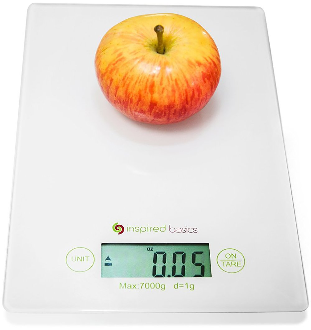 Inspired Basics Digital Kitchen Scale Slim Design Food Scale Easy To Clean Gl.. 18