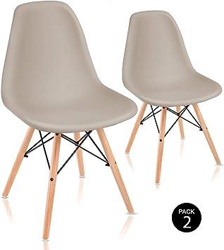 Mc Haus SENA - Pack 2 Sillas Comedor con diseño Nórdico tower ...