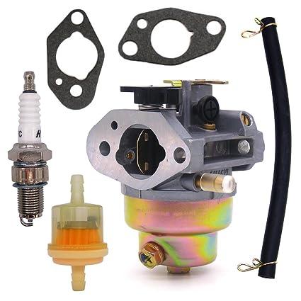 amazon com nimtek carburetor w spark plug fuel filter gaskets linenimtek carburetor w spark plug fuel filter gaskets line for honda gcv160 gcv 160 lawn