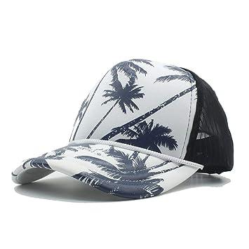 Oudan Sombreros y Gorras Moda Mujer Hombre Verano Marea Gorra de béisbol de Malla con árbol de Coco Vacaciones en la Playa Sombreros de Camionero ...