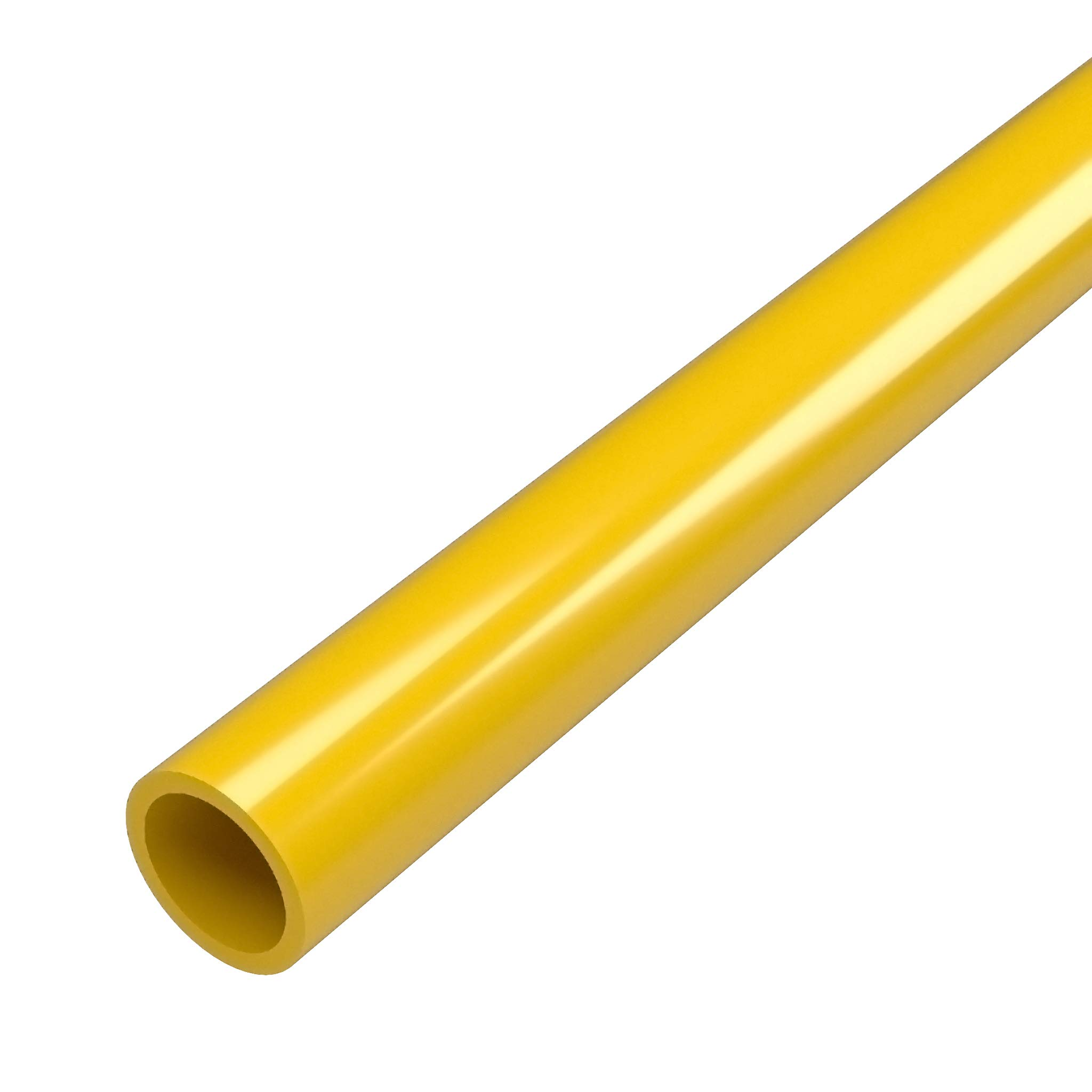 FORMUFIT P012FGP-YE-5 Schedule 40 PVC Pipe, Furniture Grade, 5', 1/2'' Size, Yellow by FORMUFIT