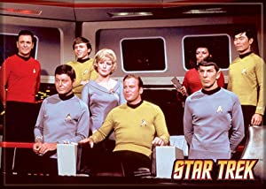 "Ata-Boy Star Trek Cast on The Bridge 2.5"" x 3.5"" Magnet for Refrigerators and Lockers"