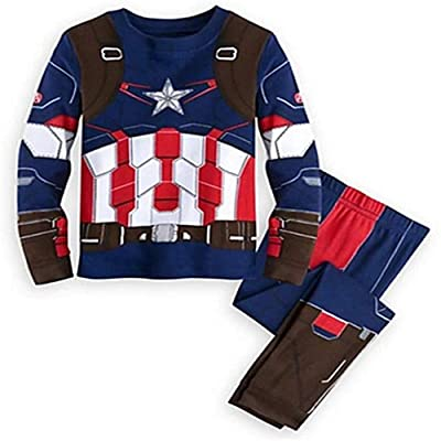 2 Piece Marvel Superhero Adventures Toddler Baby Girls Captain America Costume Pajamas Set for Boys: Clothing [5Bkhe0707112]